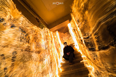 Guy Fawkes in fire (PacoQT) Tags: longexposure lightpainting night fire stair guyfawkes escalera fuego plvora lightart largaexposicin pacoqt pacoquiles lightjunkies