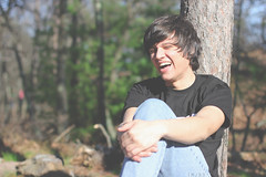 _____ (imJBD) Tags: blue trees boy summer man hot tree green nature smile smiling forest laughing hair ma outdoors happy spring woods warm massachusetts may hills jeans laugh april milton