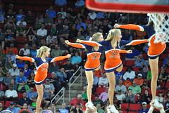 UVA CHEERLEADERS (SneakinDeacon) Tags: basketball acc cheerleaders pirates tournament hampton ncaa uva wahoos cavaliers marchmadness hoos meac pncarena