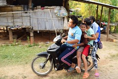 This Seems Safe (catlydy) Tags: kids children thailand dangerous karen motorcycle hilltribe