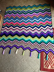 Wendy Chavalia (The Crochet Crowd) Tags: game stitch right blanket afghan throw crochetblanket thecrochetcrowd stitchisright