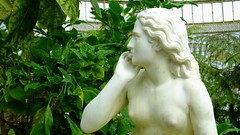 Kibble Palace 07 (byronv2) Tags: eve sculpture woman plants colour green history nature statue garden naked nude breasts nipples glasgow gardenofeden victorian carving marble botany botanicalgarden westend botanicgardens kibblepalace scipionetadolini
