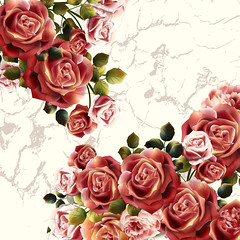 Beautiful background or invitation with rose flowers (noor.khan.alam) Tags: pink wedding roses wallpaper flower cute art love nature floral beautiful fashion sign illustration vintage watercolor festive word design beige soft pretty pattern place graphic artistic antique anniversary decorative pastel background grunge border style marriage valentine retro invitation card frame lovely elegant bridal ornate brochure marry vector gentle grungy realistic russianfederation