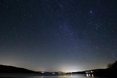 Sky full of stars (fotoluMiNIcos) Tags: longexposure water rio night stars noche agua pantano estrellas nocturna ebro cantabria fotoluminicos
