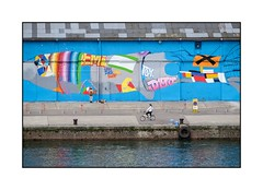 Les quais en couleur (SiouXie's) Tags: street city color graffiti dock fuji tags urbanart rouen r fujifilm normandie rue normandy quai couleur ville arturbain siouxies