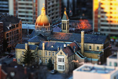 Miniature Cathedral With A Sunset Touch (Katrin Ray) Tags: sunset toronto ontario canada canon eos rebel march downtown toyland tiltshift romancatholicchurch ourladyoflourdes renaissancerevival hsm canonphotography tilfshift 750d gardensdistrict dreamscapesoftoronto katrinray happyminiaturesunday katrinrayakakatrinshumakov miniaturestyle digimagic toyrontolife t6i foundedin1879 toyrontosrenaissancerevival miniaturecathedraldistrict miniaturecathedralwithasunsettouch