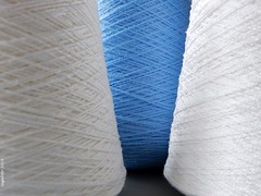 ...Yarn... (cegefoto) Tags: blue white blauw yarn cotton bobbin wit garen klos filltheframe katoen oneofthesethings macromondays cottonbobbin 116picturesin2016 klosgaren