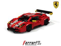 Ferrari 488 GT3 Racer (lego911) Tags: auto car model lego render ferrari racing coupe v8 vicious cad racer maranello gtb povray gt3 moc rumours berlinetta 2016 ldd gte 488 miniland foitsop 2010s lego911