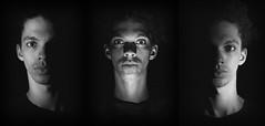 Triptych (Captain_Hooks) Tags: light blackandwhite white black grain noise beneath sidelight underlight