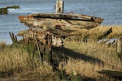 BREAKING UP IN THE MUD (pearl.winch) Tags: windyday walk seawall essex heybridgebasin sooc 28thmarch2016