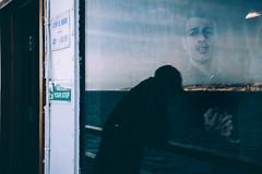 - (alessiagiuffrida_) Tags: ocean voyage trip blue windows sea italy man reflection glass idea moments break heart sensitive being feel down double thinking through sicilia messina humans feelings