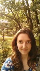 zen selfie in a zen garden (eweliyi) Tags: woman green me girl smile face japan gardens self temple kyoto ja ginkakuji selfie project365 eweliyi 365v4