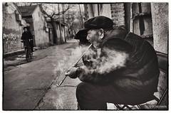 China003 (siggi.martin) Tags: china people man men asia asien sitting beijing menschen smoking lane mann peking männer gasse rauchen sitzen houtong