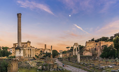 Foro Romano (aliffc3) Tags: sunset sky italy roma colors landscape ruins europe roman romanempire fororomano sunsethour sigma19f28 sonya6000