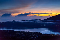 4am Sunrise at Mount Batur with Mount Rinjani sight (amacikunas photography) Tags: bali mountain lake nature sunrise indonesia holidays mount batur