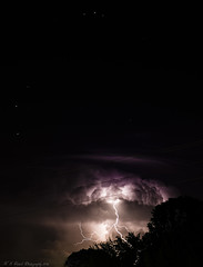 Lightning with the Stars (K. S. Veitch Photography) Tags: weather clouds stars kentucky thunderstorm lightning