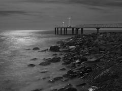 Xixles en B&N (:) vicky) Tags: beach night canon landscape noche agua luna nubes nocturna airelibre comunidadvalenciana sedas xilxes blancoynegrobnmonocromoblack flickrvicky