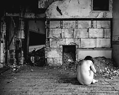 Gradation (sadandbeautiful (Sarah)) Tags: school bw woman selfportrait abandoned me female self classroom permission urbex jwcooper