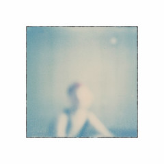 La Baigneuse # 1 A (bruXella & bruXellius) Tags: blue film analog polaroid sx70 soft bleu blau delicate expired pola instantfilm polanoid labaigneuse instantmagic polagen impossibleproject px70colorshade diebadende colorprotection