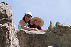 Kids on Rocks (Stuart Borrett) Tags: california bear family usa forest easter big hiking walk bigbear sanbernardinonationalforest woodlandinterpretivetrail springbreak2016