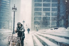 The man and the world (Explored 14/4/16) (Bardia Photography) Tags: people urban snow storm composite streetphotography story theloop 50mmf14 bardiaphotography nikond750