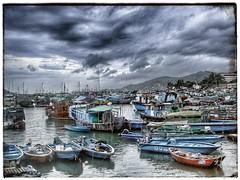 Typhoon Shelter (k8rry) Tags: china hongkong fishing junk village harbour traditional chinese  southchinasea sampan moorings cheungchau typhoonshelter snapseed