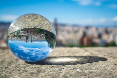Bcn esfrica (Lola Ylo) Tags: barcelona city landscape outdoor montjuc crystalball differentperspective