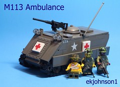 M113 Ambulance (ekjohnson1) Tags: brick eclipse mod arms lego ambulance vietnam prototype 1960s build citizen nam reloaded grafx proto eg m113 bricklink