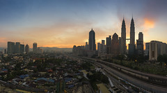 sunrise of kuala lumpur city (gilbertchuachian_siong) Tags: city panorama building tower tourism sunrise landscape photography highway asia exposure cityscape arch photographer exterior flat outdoor sony petronas relaxing twin visit explore malaysia destination kualalumpur kampung interest klcc baru pkns a6000