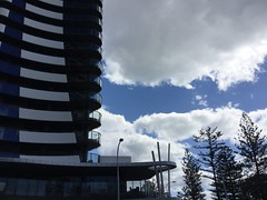 Cooly architecture (YAZMDG (15,000 images)) Tags: clouds lifestyle australia resort pines balconies beachfront coolangatta norfolkpines