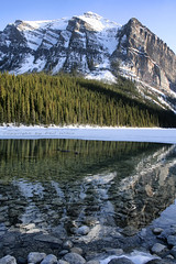 Lake Louise in Canada (Phil Wilco) Tags: park schnee lake snow canada mountains reflection ice nature water canon landscape 350d mirror see wasser spiegel natur berge louise national alberta banff eis landschaft spiegelung kanada
