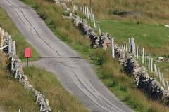 Remote Postbox (milnefaefife) Tags: road sea wall fence landscape coast scotland highlands stones hills postbox moor sutherland moorland stoer assynt drystanedyke singletrackroad northwesthighlands pointofstoer stoerhead