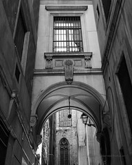 Archways of Espana (Photoz Darkly) Tags: barcelona blackandwhite bw monochrome blackwhite spain espana