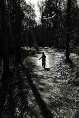 runner (imagomagia) Tags: art composition forest child naturallight run nophotoshop jnkping fineartphotography blackandwhitephotography artphoto artphotography