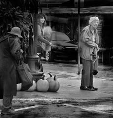sympathy (salmonsalmon) Tags: street bw woman women elderly crosswalk