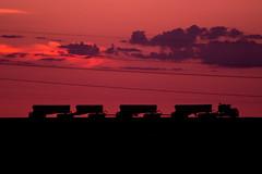 Super Quad Sunset (rafhaus) Tags: australia western roadtrain pilbara porthedland superquad