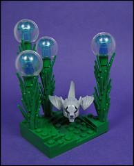 Strange lands (Karf Oohlu) Tags: lego alien beast vignette moc alienworld wolfbat alienbat
