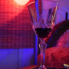 Light Wine #drink #colorfulambience (tj_arriaga) Tags: glass nikon interiors drink blues hues reds ambience unedited rawimage creativelighting leadcrystal nikon5500 ambientcolors colorfulambience