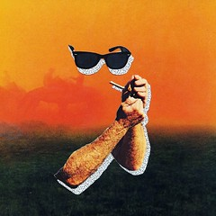 Cool Cowboy (Asbestos Bill) Tags: sunset sunglasses collage analog hands shades smoking match magazineclippings handcut
