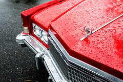 a '74 Kind Of Red (c. Melon Images) Tags: street city red urban classic philadelphia car fuji philly caddy 23mm x100s