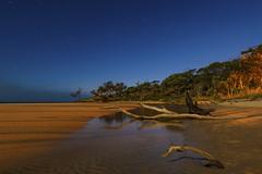 Light up the dark (merbert2012) Tags: longexposure nightphotography travel reflection beach nature stars australia queensland stradbrokeisland nikond800