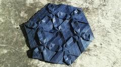 Shy Triangles series #Origami  <no-name> tessellation. (Andrey Hechuev |  ) Tags: blue origami blu bleu blau tessellation paperfolding papiroflexia origamitesselation doratura triangulartwist instagramapp uploaded:by=instagram andreyhechuev shytriangles shytrianglestessellation