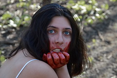 Hunger (lacey.puskaric) Tags: inspiration halloween strange forest weird scary blood nikon natural pasta creepy gross gore bloody lust inspire gorey lyons gory f4f d3200