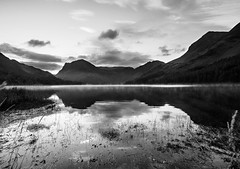 Buttermere mono mist (alf.branch) Tags: blackandwhite bw lake reflection water clouds landscape mono lakes lakedistrict olympus cumbria stillwater zuiko buttermere lakesdistrict refelections westcumbria westernlakes cumbrialakedistrict olympusomdem1 zuiko1240mmf28pro