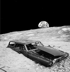 We've Been to the Moon (Keysgoclick) Tags: dodge car junk abandoned space moon collage surreal surrealism surreal42