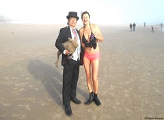 Dr. Takeshi Yamada and Seara (Coney Island Sea Rabbit) at the winter swimming event by the Coney Island Polar Bear Club at the Coney Island Beach in Brooklyn, New York on January 10 (Sun), 2015.  mermaid. 20160110Sun DSCN3353=pC1 (searabbits23) Tags: winter ny newyork sexy celebrity art beach fashion animal brooklyn asian coneyisland japanese star yahoo costume tv google king artist dragon god cosplay manhattan wildlife famous gothic goth performance pop taxidermy cnn tuxedo bikini tophat unitednations playboy entertainer samurai genius donaldtrump mermaid amc mardigras salvadordali billclinton hillaryclinton billgates aol vangogh curiosities bing sideshow jeffkoons globalwarming takashimurakami pablopicasso steampunk damienhirst cryptozoology freakshow barackobama polarbearclub seara immortalized takeshiyamada museumofworldwonders roguetaxidermy searabbit ladygaga climategate