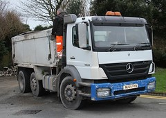 Merc 1833 (fannyfadams) Tags: uk wagon tipper lorry rubble anglesey northwales holyhead a55 mercedesbenz1833