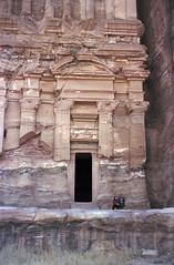 Husband & Wife at Petra (AnniversaryRoad) Tags: leica people colour film analog 50mm couple desert kodak petra middleeast hills jordan summicron portra m6 leicam6