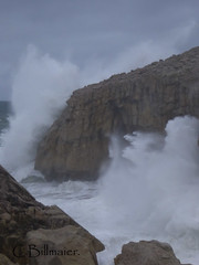 P1020129 (Cintia Billmaier.) Tags: strand mar meer marejada playa welle ola cantabria suances arbolada lumixtz60