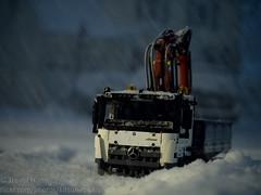 Blowing Snow 1 (Kenjis9965) Tags: leica macro truck mercedes benz lego crane technics panasonic technic micro mercedesbenz f28 45mm 43 elmarit gx8 fourthirds macroelmarit panaleica arocs panasonic45mmf28